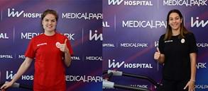 Elifsu Eriçek ve Yvon Belien sağlık kontrolünden geçti