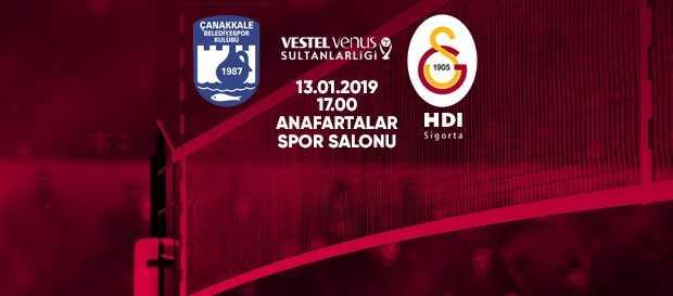 Maça doğru | Çanakkale Belediye - Galatasaray HDI Sigorta