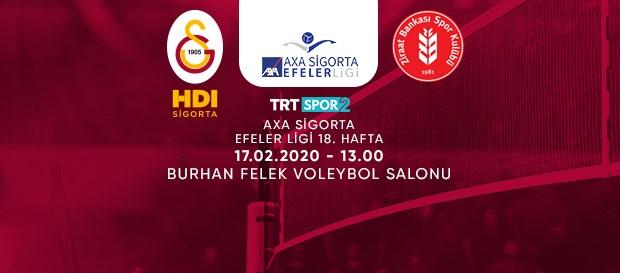 Maça doğru | Galatasaray HDI Sigorta - Ziraat Bankası