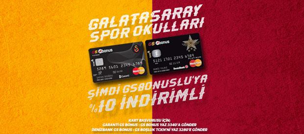 Galatasaray Spor Okulları GS Bonuslu'ya %10 İndirimli!