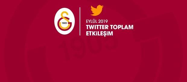 Twitter'da Eylül ayının lideri Galatasaray