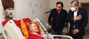 Başkan Burak Elmas'tan İlyas Tüfekçi'ye ziyaret