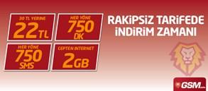 GSMobile ile Rakipsiz 750  Şifre Kart Kampanyası