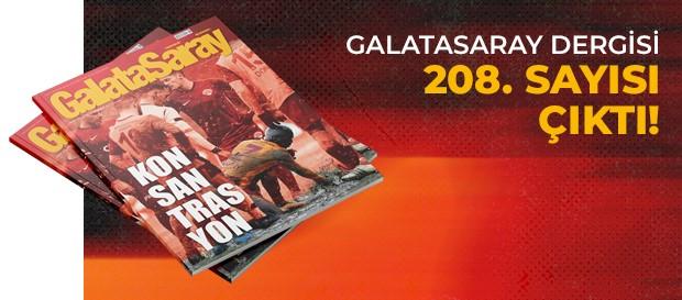 Galatasaray Dergisi'nin 208. sayısı GS Store'larda satışta